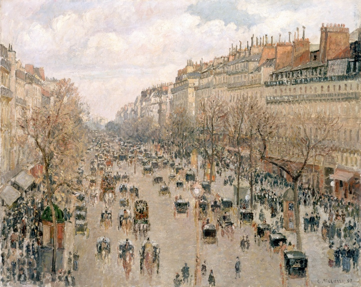 Camille_Pissarro,_Boulevard_Montmartre