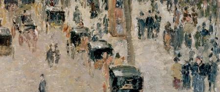 Camille_Pissarro,_Boulevard_Montmartre_detail