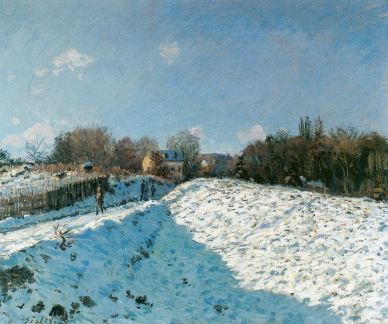 Alfred-Sisley_1874-1874_Snow-Effect-at-Louveciennes