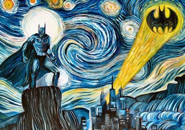 Batman Gogh receiving the Impressionist call
