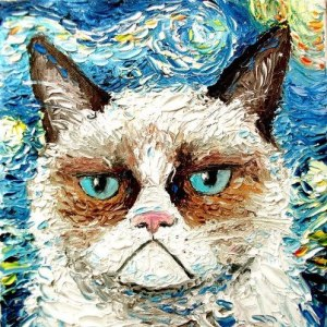 Grumpy cat is not Impressed with Impressionism