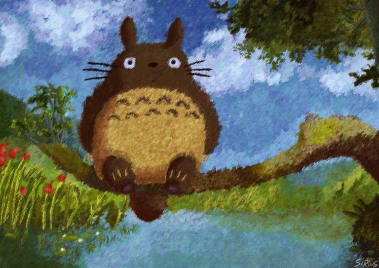 Miyazaki's Impressionist verion of Totoro