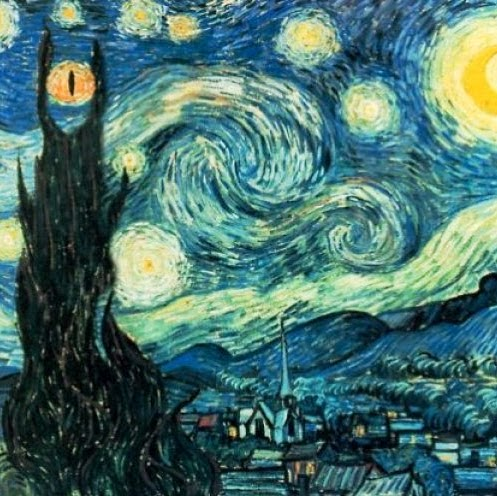 The Eye of Van Gogh in Mordor