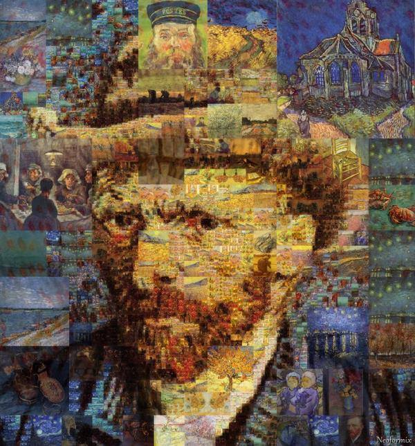 vincent van gogh collage portrait