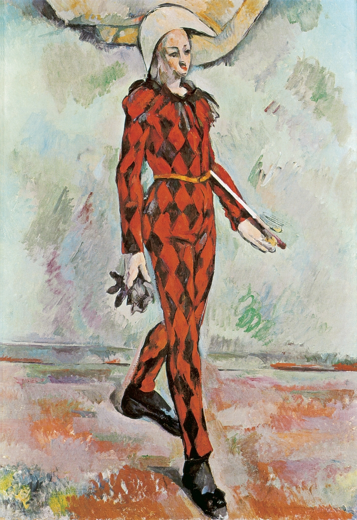 Paul Cézanne - Harlequin, 1889. In HD!