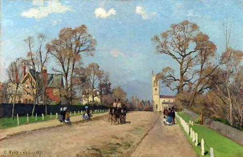 Camille Pissarro, The Avenue, Sydenham (1871).