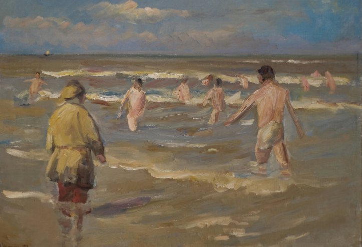 Max Liebermann's ''Bathing Boys'' from 1902. Credit Museum Kunst der Westküste, Föhr; bpk/Staatliche Museen zu Berlin, Nationalgalerie, via Jörg P. Anders