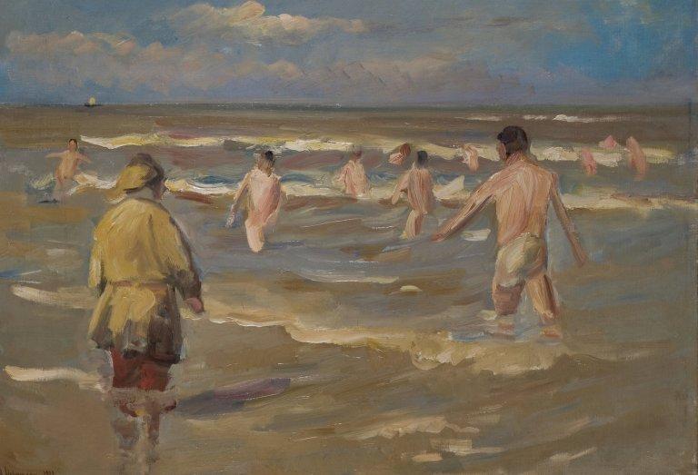 Max Liebermann's ''Bathing Boys'' from 1902. Credit Museum Kunst der Westküste, Föhr; bpk/Staatliche Museen zu Berlin, Nationalgalerie, via Jörg P. Anders