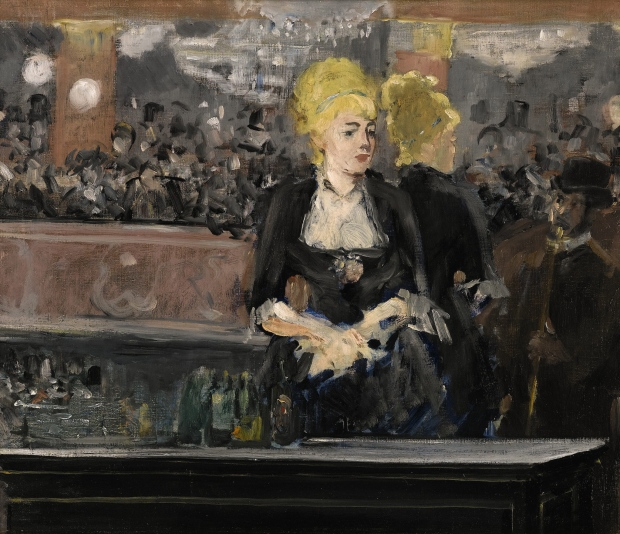 This image released by Sotheby's auction house in London shows Edouard Manet's Le Bar aux Folies-Bergere. One of the defining images of French Impressionism, the painting will be offered at a June 24 sale in London, with an estimated price of 15 million pounds to 20 million pounds. (Sotheby'svia AP Photo)