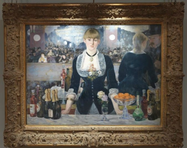 Edouard Manet's a Bar at the Folies-Bergère, 1881-2, is seen hanging in London's Courtauld Gallery. (Courtauld Gallery)