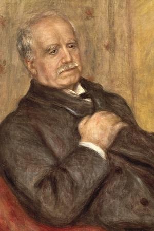 A detail of Renoir's portrait of Paul Durand Ruel