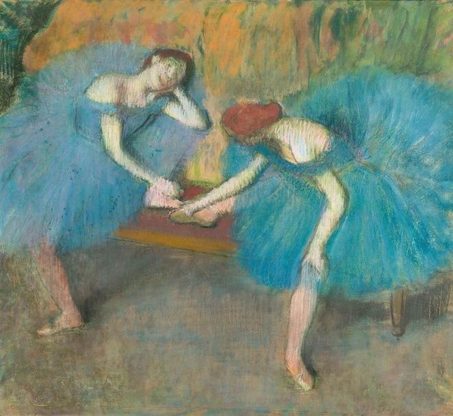 Two Dancers Resting by Degas. Photograph (Musée d'Orsay) /Hervé Lewandowski.