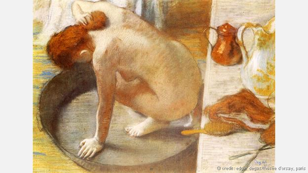 The composition of Degas' The Tub shows a heavy debt to Japanese printmaking (Credit: Edgar Degas/Musée d'Orsay, Paris)