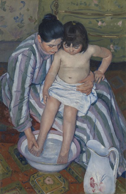 """The Child's Bath"" (1893) by Mary Cassatt. Credit The Art Institute of Chicago"