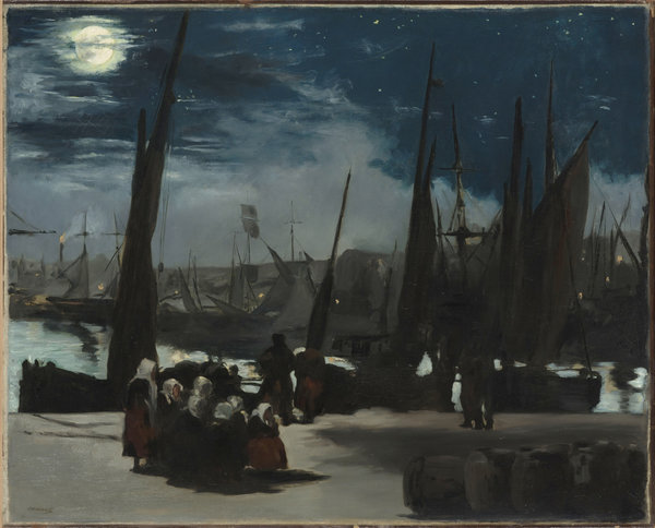 """Moonlight at the Port of Boulogne"" (1868) by Édouard Manet. Credit Musée d'Orsay, Paris"