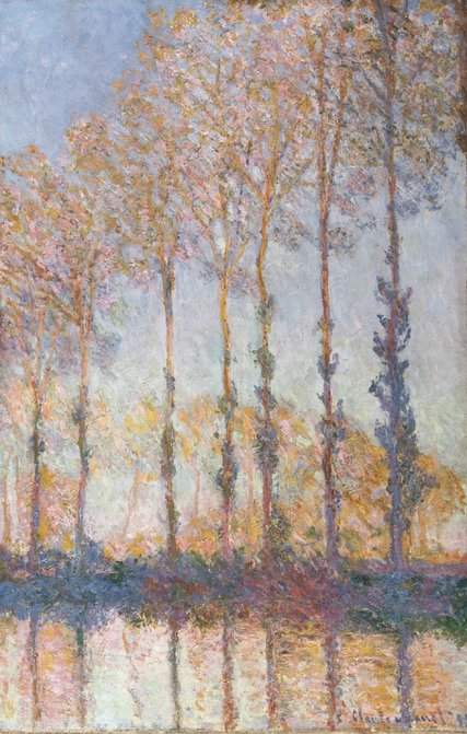 """Poplars on the Bank of the Epte River"" (1891) by Claude Monet. Credit Philadelphia Museum of Art"