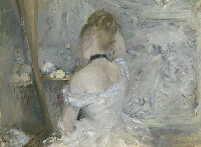 """Woman at Her Toilette"" (1875-80) by Berthe Morisot. Credit The Art Institute of Chicago"
