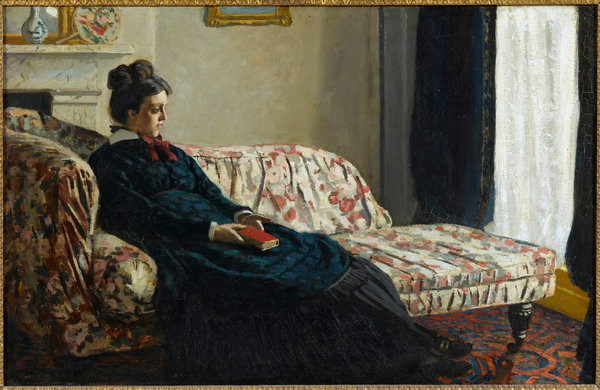 """Meditation (Madame Monet on the Sofa)"" (circa 1871) by Claude Monet. Credit Musée d'Orsay, Paris"
