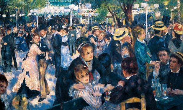 A sexy crowd brought alive by dappled sunlight … Le Moulin de la Galette, by Pierre-Auguste Renoir, 1876 Photograph: De Agostini/Getty Images