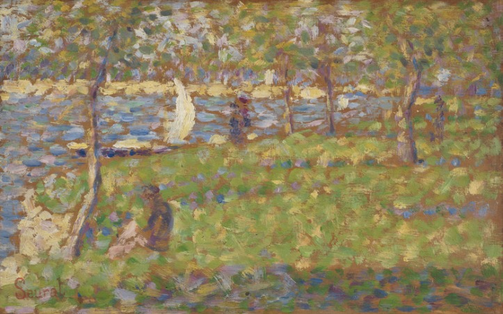 "Georges Seurat (French, 1859-1891), Study for ""La Grande Jatte,"" 1884/1885, oil on wood, Ailsa Mellon Bruce Collection. (Image courtesy National Gallery of Art)"
