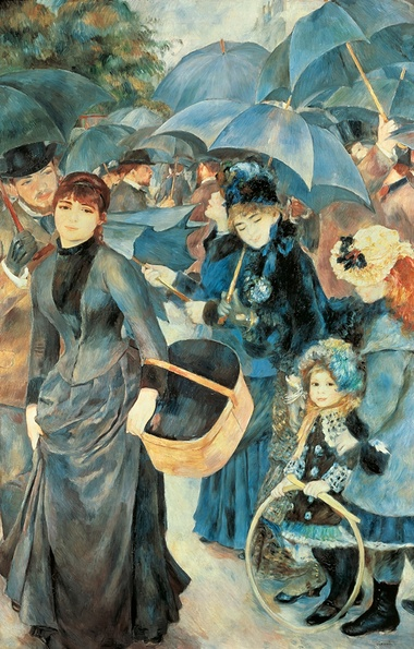 Getting closer to what we actually see … shadows and broken light in Renoir's The Umbrellas. Photograph: DEA /De Agostini/Getty Images