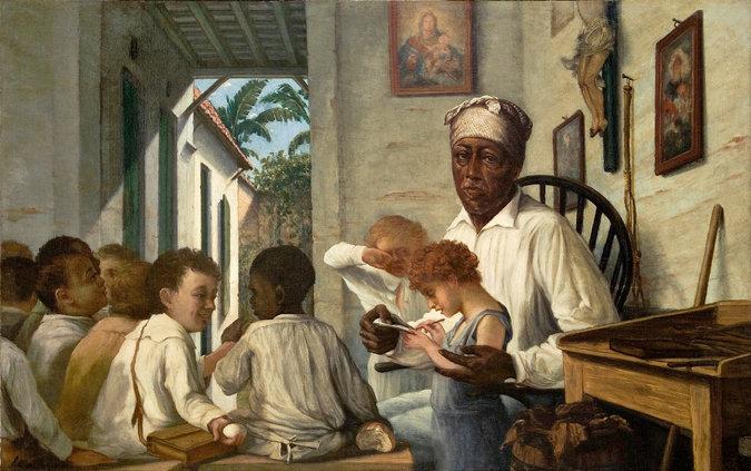 """""""The School of Master Rafael Cordero"""" (circa 1890), an oil by Francisco Oller. Credit Ateneo Puertorriqueño, San Juan, P.R."""