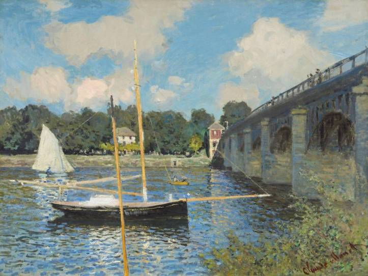 Claude Monet's The Bridge at Argenteuil. (Courtesy National Gallery of Art)