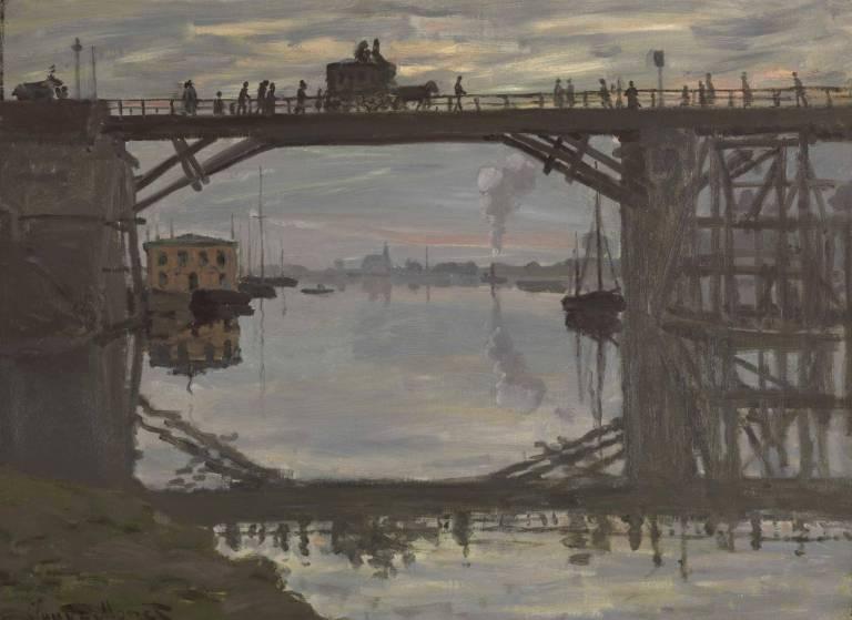Claude Monet's Le pont de bois. (NGC, Ottawa)