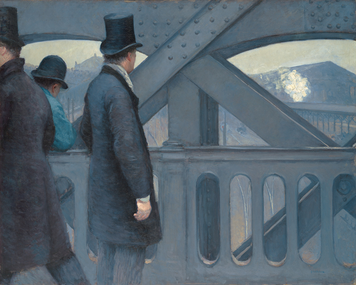 Gustave Caillebotte, On the Pont de l'Europe, 1876–77, oil on canvas, 41⅝ x 51½ inches. KIMBELL ART MUSEUM, FORT WORTH