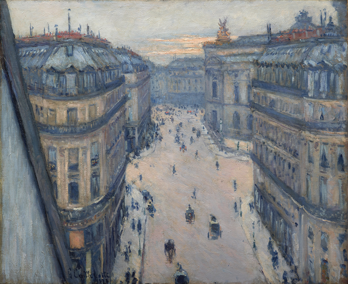 Gustave Caillebotte, The Rue Halévy, Seen from the Sixth Floor, 1878, oil on canvas, 29 x 23¾ inches. PRIVATE COLLECTION, DALLAS