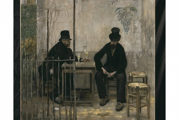 Although Jean-François Raffaëlli's Absinthe Drinkers (1881) depicted down-and-out alcoholics, when it was put on show in the sixth Impressionist exhibition that same year, critics realised it was no Impressionist depiction of suburban sociability, but add